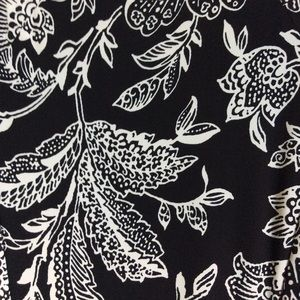 LAUREN Ralph Lauren black & white floral dress